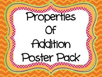 Addition Properties Poster ... by Abby E | Teachers Pay Teachers