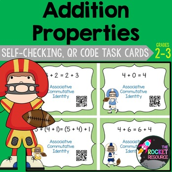 Addition Properties QR Code Task Cards