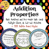 Math Centers Addition Properties Self Checking Task Cards