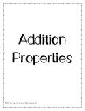 Addition Properties Student Activities