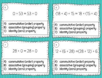 Addition Properties Task Cards