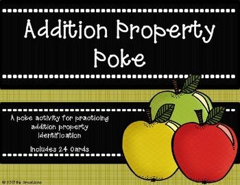 Addition Property Poke {Fall Theme}