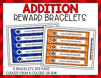 Addition Fact Punch Cards, Certificates, Reward Bracelets - Cute Owl Theme