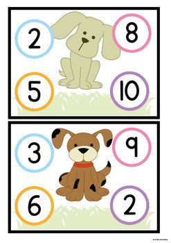 Addition Pup - Print and Play Game for Counting On