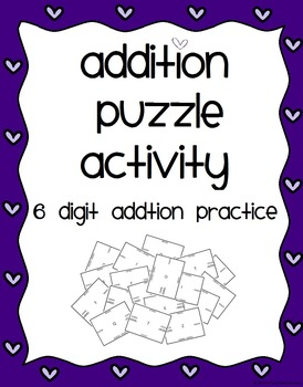 Addition Puzzle Activity