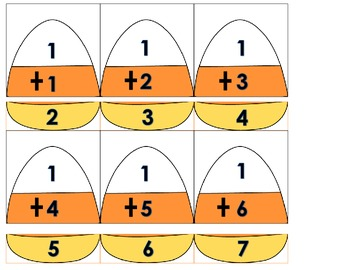Addition Puzzle Candy Corn for Math Center or Small Group Activity