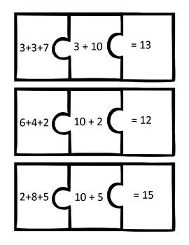 Addition Puzzle Center