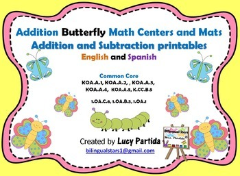 Addition Puzzle Center and Mats - Subtraction Bilingual Stars Mrs Partida