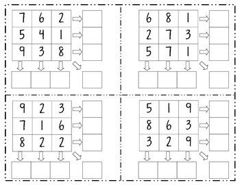 Addition Puzzle Squares (CCSS 2.OA.2)
