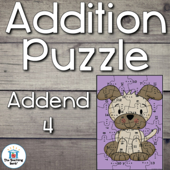 Addition Puzzle for Addend 4