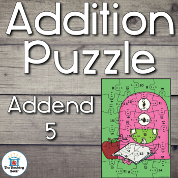 Addition Puzzle for Addend 5