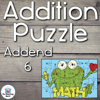 Addition Puzzle for Addend 6