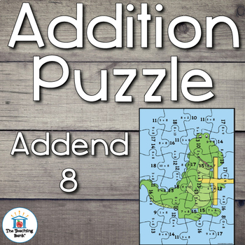 Addition Puzzle for Addend 8