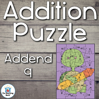 Addition Puzzle for Addend 9