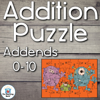 Addition Puzzle for Addends 0-10