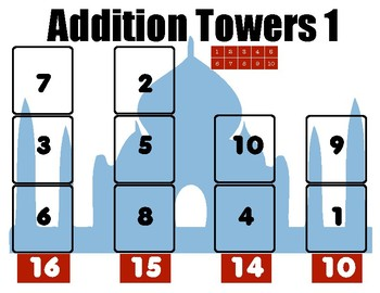 Addition Puzzles: Adding Single Digit Numbers with Multiple Solutions