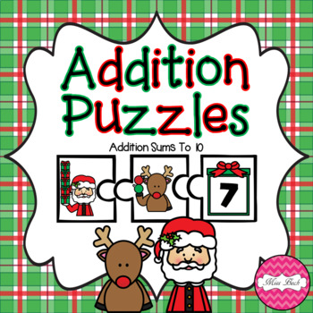 Addition Puzzles- Christmas Theme