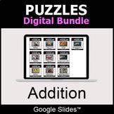 Addition - Puzzles Digital Bundle | Google Slides | Distan