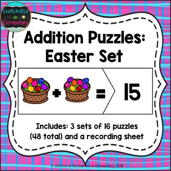 Addition Puzzles: Easter Set