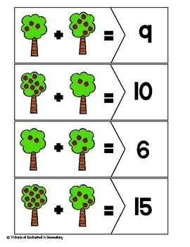 Addition Puzzles: Fall Set