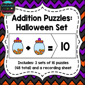Addition Puzzles: Halloween Set