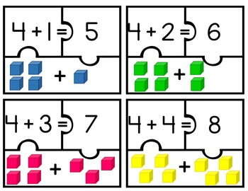 Addition Puzzles (Sums to 10)