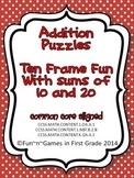 Addition Puzzles - Ten Frame Fun