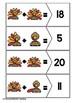 Addition Puzzles: Thanksgiving Set