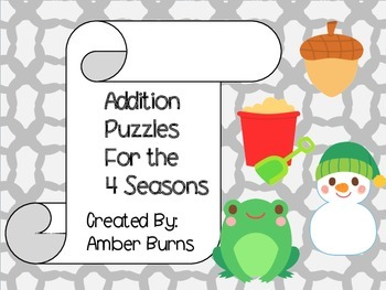 Addition Puzzles for the 4 Seasons