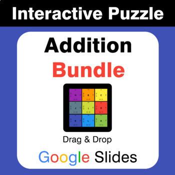 Addition Puzzles with GOOGLE Slides Bundle