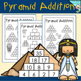 Addition Pyramids - Blank and Ready to Go in Math Worksheets - Pyramid Addition