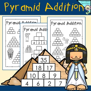 Addition Pyramids - Blank and Ready to Go in Math Workshee