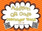 Addition QR Code Scavenger Hunt Sums 7-18