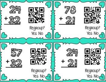 Addition QR Code Task Cards