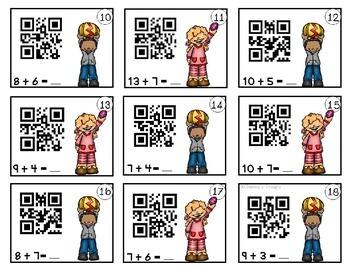 Addition QR Task Cards ~ Easter