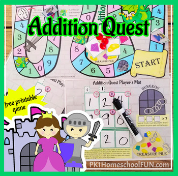 Addition Quest: Single, Double & Triple Digit Addition Game