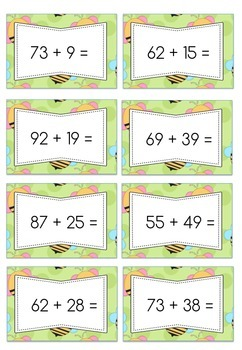 Addition Question Cards