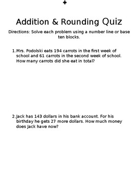 Addition Quiz