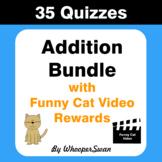 Addition Quiz with Funny Cat Video Rewards [Bundle]