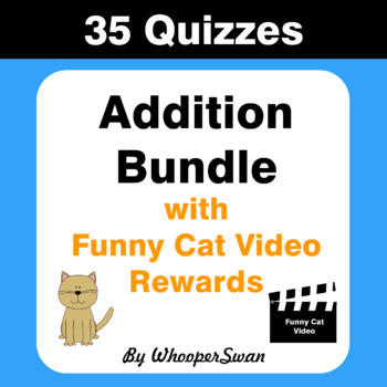 Addition Quiz with Funny Cat Video Rewards [Bundle]