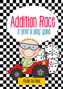Addition Race - Print and Play Math Game Center