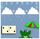 Addition- Rainy Domino Math SMARTboard