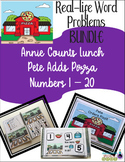 Addition Real-Life Word Problems  BUNDLE 1-20