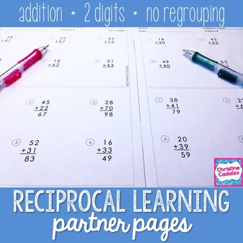 FREE! Addition Practice Partner Pages