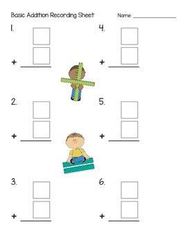 Addition Recording Sheet Pack (1-Digit, 2-Digit, 3-Digit)