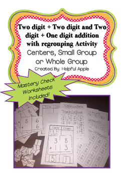 Addition Regrouping Centers for beginning regrouping