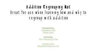 Addition Regrouping Mat