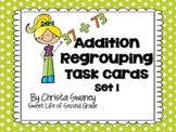Addition Regrouping Task Cards Set 1