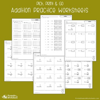 Addition Practice Regrouping, Math Adding Worksheets For Review, Assessment