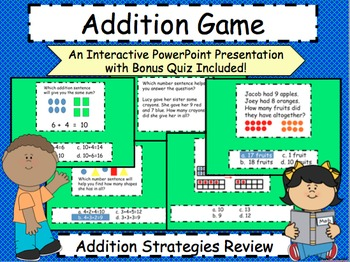 Addition Review Game